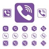 Комплект значка Viber плоского на белой предпосылке Стоковое Изображение RF