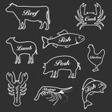 Комплект значков животных Стоковые Фото