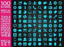 Комплект значков, качественный дизайн вектора собрания значка Стоковая Фотография