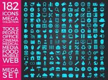 Комплект значков, качественный дизайн вектора собрания значка Стоковое Изображение RF