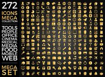 Комплект значков, качественный дизайн вектора собрания значка Стоковая Фотография RF