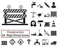 Комплект 24 значков конструкции иллюстрация штока