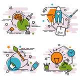 Комплект значков плана искусства и графического дизайна Стоковые Фотографии RF