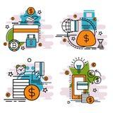Комплект значков плана оплаты Стоковые Изображения RF