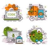 Комплект значков плана развития APP Стоковые Фотографии RF