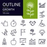 Комплект значков плана роста Стоковое Изображение