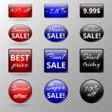 Комплект значков продажи Стоковая Фотография