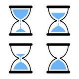 Комплект значков часов также вектор иллюстрации притяжки corel иллюстрация штока