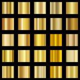 Комплект золотого градиента Собрание градиента золота вектор Стоковое Изображение RF