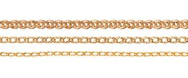 Комплект золотой цепи Стоковая Фотография RF