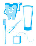 Комплект зубоврачебных икон иллюстрация штока