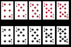 комплект играть карточки предпосылки черный Стоковое Фото