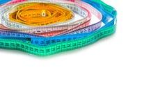 Комплект измеряя лент изолированных на белой предпосылке Стоковое Изображение RF