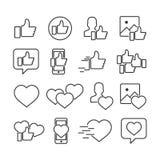 Комплект изображения вектора близких значков Значки социальных сетей бесплатная иллюстрация