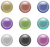 комплект изолированный кнопкой Стоковое Изображение RF