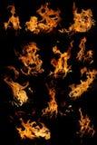 комплект изолированный пламенами Стоковое фото RF