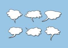 Комплект изолированных пузырей речи Собрание шуточных элементов Стоковые Изображения