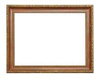 Комплект изолированных рамок искусства пустых в золотом стоковое фото rf