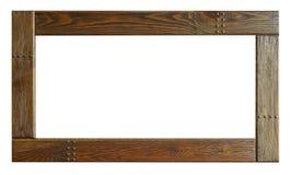 Комплект изолированных рамок искусства пустых в золотом стоковая фотография rf