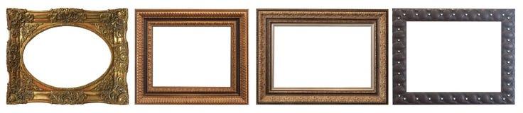 Комплект изолированных рамок искусства пустых стоковое фото