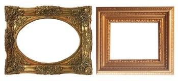 Комплект изолированных рамок искусства пустых стоковое фото rf