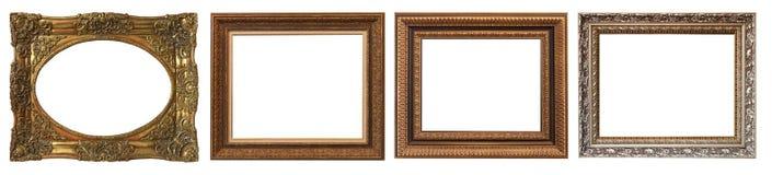 Комплект изолированных рамок искусства пустых Иллюстрация штока