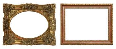 Комплект изолированных рамок искусства пустых стоковые изображения rf
