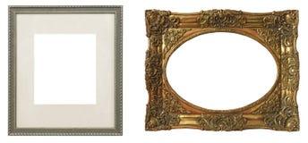 Комплект изолированных рамок искусства пустых стоковая фотография rf