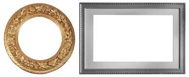 Комплект изолированных рамок искусства пустых стоковые фотографии rf