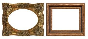 Комплект изолированных рамок искусства пустых стоковые фото