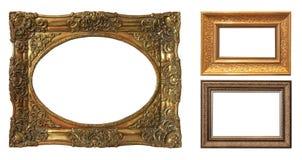Комплект изолированных рамок искусства пустых стоковое изображение rf