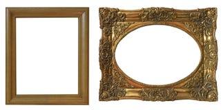 Комплект изолированных рамок искусства пустых стоковое изображение