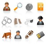 комплект иконы агенства сыщицкий Стоковые Изображения RF