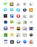 Комплект иконы андроида Стоковое Изображение