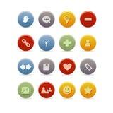 комплект иконы блога Стоковое Фото