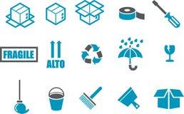 комплект иконы двигая Стоковые Изображения