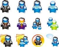 комплект иконы дела Стоковые Изображения RF