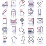 комплект иконы дела Стоковое фото RF