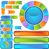 комплект иконы диаграммы шеврона бесплатная иллюстрация