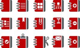 комплект иконы документа иллюстрация вектора
