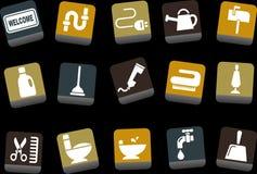 комплект иконы дома иллюстрация вектора