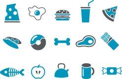 комплект иконы еды Стоковые Фотографии RF