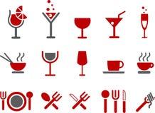 комплект иконы еды иллюстрация штока