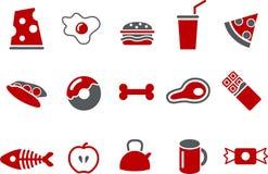комплект иконы еды иллюстрация вектора