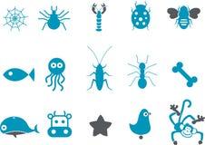 комплект иконы животных иллюстрация вектора
