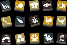 комплект иконы животных бесплатная иллюстрация