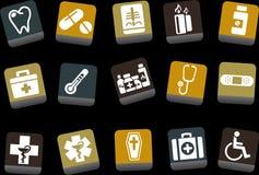 комплект иконы здоровья иллюстрация вектора