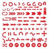 Комплект иконы знака стрелки Стоковые Изображения RF