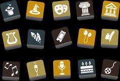 комплект иконы зрелищности бесплатная иллюстрация