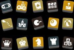 комплект иконы игр иллюстрация штока